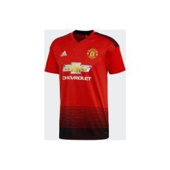 Koszulka krótki rękaw do piłki nożnej Manchester United. Szare t-shirty damskie marki Adidas, m. Za 309,99 zł.