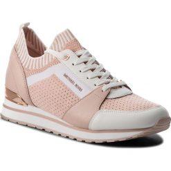 Sneakersy MICHAEL MICHAEL KORS - Billie Knit Trainer 43T8BIFS1D Soft Pink. Czarne sneakersy damskie marki MICHAEL Michael Kors, z gumy, przed kolano, na wysokim obcasie. Za 809,00 zł.