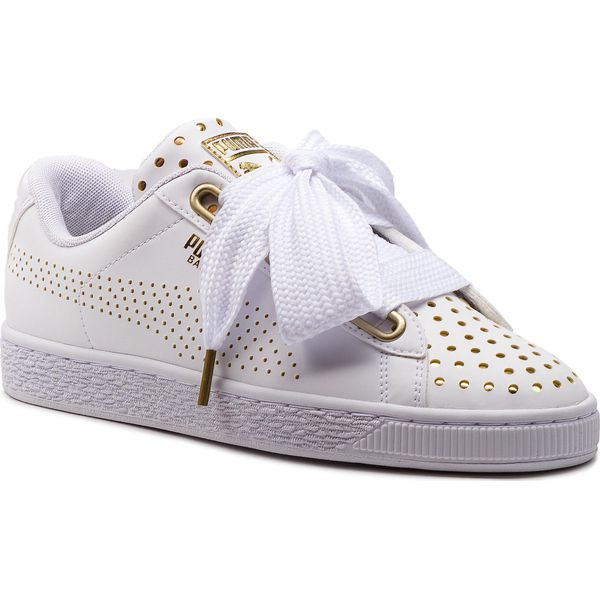 Sneakersy PUMA Basket Heart Ath Lux Wn's 366728 01 Puma WhitePuma White