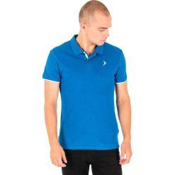 Koszulki polo: Outhorn Koszulka polo męska HOL18-TSM610 niebieska r. M