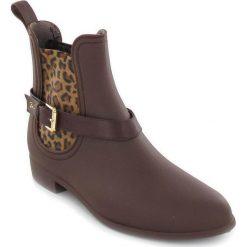 """Buty damskie: Kalosze """"Ocelot"""" w kolorze brązowym"""
