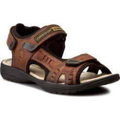 Sandały damskie: Sandały GREGOR – 01192-ME-V1510 Jasny Brąz