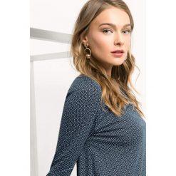 Koszulka w drobne groszki. Niebieskie t-shirty damskie Orsay, xs, w grochy, z dzianiny. Za 69,99 zł.