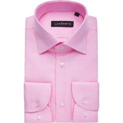 Koszula Różowa Klaus. Niebieskie koszule męskie na spinki marki LANCERTO, z bawełny. Za 299,90 zł.