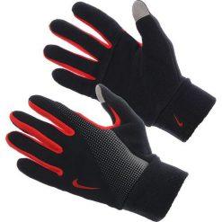 Rękawiczki męskie: Nike Rękawiczki męskie Thermal Tech Run Gloves czarno-czerwone r. S