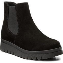 Botki SERGIO BARDI - Albareto FW127274617CS 401. Czarne buty zimowe damskie Sergio Bardi, z materiału, na obcasie. W wyprzedaży za 219,00 zł.
