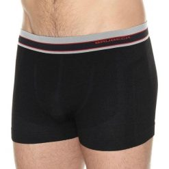 Bokserki męskie: Brubeck Bokserki męskie Merino Active Wool czarne r. L