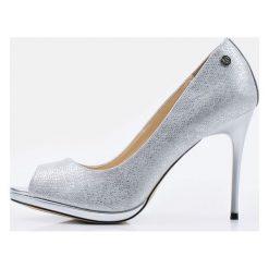 Buty ślubne damskie: Czółenka z subtelną fakturą