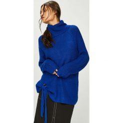 Answear - Sweter. Niebieskie swetry klasyczne damskie ANSWEAR, l, z dzianiny, z golfem. W wyprzedaży za 119,90 zł.