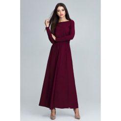 Długsa sukienka maxi m604. Zielone długie sukienki marki Global, na co dzień, m, eleganckie, z długim rękawem. Za 179,00 zł.