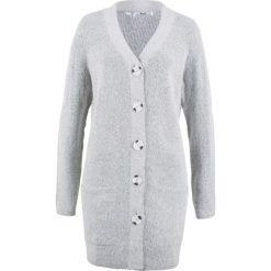 Kardigany damskie: Sweter rozpinany, długi rękaw bonprix szary melanż