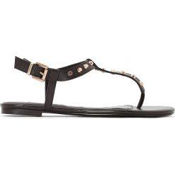 Rzymianki damskie: Skórzane sandały na płaskim obcasie Laciee