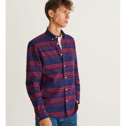 Koszula z bawełny organicznej regular fit - Granatowy. Niebieskie koszule męskie marki Reserved. Za 119,99 zł.