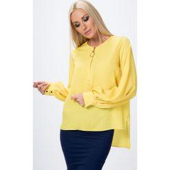 Koszula z rozszerzanymi rękawami żółta  MP26022. Czerwone koszule damskie marki Fasardi, l. Za 39,00 zł.