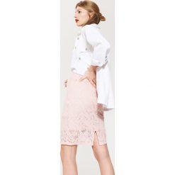 Spódniczki: Ołówkowa spódnica z gipiury – Różowy