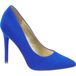 Szpilki damskie Graceland niebieskie. Czarne szpilki marki Graceland, w kolorowe wzory, z materiału. Za 99,90 zł.