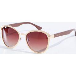 Okulary przeciwsłoneczne damskie aviatory: Okulary przeciwsłoneczne z polaryzacją - Złoty
