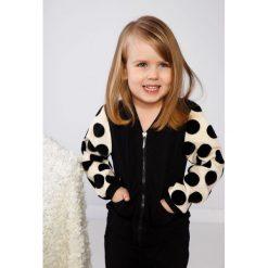 Bluzy dziewczęce rozpinane: Czarna bluza dziecięca NDZ36032