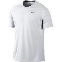 Nike Koszulka męska Miler SS UV biała r. XL (519698 100). Białe koszulki sportowe męskie marki Nike, m. Za 79,00 zł.