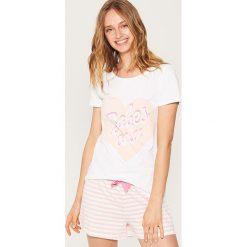 Piżamy damskie: Dwuczęściowa piżama z nadrukiem – Wielobarwn