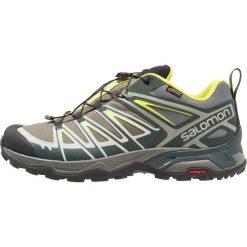 Salomon X ULTRA 3 GTX Obuwie hikingowe castor gray/darkest spruce/acid lime. Zielone buty skate męskie marki Salomon, z gumy, outdoorowe. Za 659,00 zł.