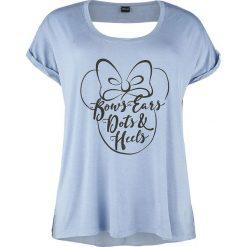 Myszka Miki i Minnie Bows, Ears, Dots & Heels Koszulka damska niebieski. Czarne bluzki ażurowe marki bonprix, z koronki. Za 54,90 zł.