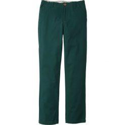 Odzież chłopięca: Spodnie chino Slim Fit bonprix głęboki zielony