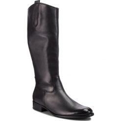 Oficerki GABOR - 91.639.27 Schwarz. Czarne buty zimowe damskie Gabor, z materiału. Za 789,00 zł.