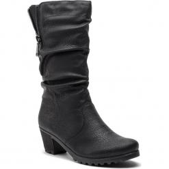 Kozaki RIEKER - Y8053-00 Schwarz. Czarne buty zimowe damskie marki Rieker, z materiału. Za 299,00 zł.