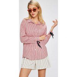 Answear - Koszula. Różowe koszule wiązane damskie marki ANSWEAR, l, w paski, z bawełny, casualowe, z klasycznym kołnierzykiem, z długim rękawem. W wyprzedaży za 99,90 zł.