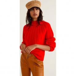 Mango - Sweter Funky. Różowe swetry klasyczne damskie marki Mango, l, z dzianiny, z okrągłym kołnierzem. Za 139,90 zł.
