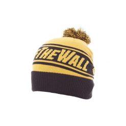 Czapki Vans  GORRO  OFF THE WALL POM POM BEANIE AMARILLO Y NEGRO. Żółte czapki zimowe damskie marki Vans. Za 119,75 zł.