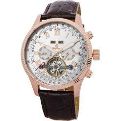 """Zegarki męskie: Zegarek """"Malabo"""" w kolorze brązowo-różowozłoto-srebrnym"""