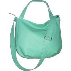 Torebki klasyczne damskie: mietowa torba przez ramie, miętowa torba worek