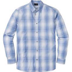 Koszula z długim rękawem, w kratę Regular Fit bonprix niebiesko-biały w kratę. Białe koszule męskie marki bonprix, z klasycznym kołnierzykiem, z długim rękawem. Za 37,99 zł.