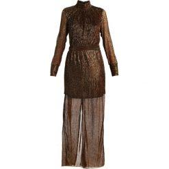 Długie sukienki: Gestuz REAGAN TURTLENECK DRESS Długa sukienka black copper