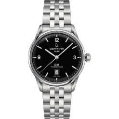 PROMOCJA ZEGAREK CERTINA DS. POWERMATIC 80 C026.407.11.057.00. Czarne, analogowe zegarki męskie CERTINA, szklane. W wyprzedaży za 2807,20 zł.