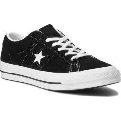 Tenisówki CONVERSE - One Star Ox 158369C Black/White/White. Czarne tenisówki męskie marki Converse, z gumy. W wyprzedaży za 269,00 zł.