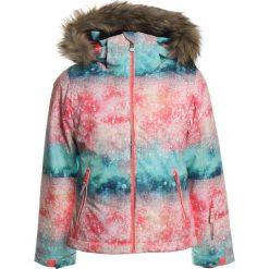Roxy JET SKI Kurtka snowboardowa neon grapefruit/solargradient. Niebieskie kurtki dziewczęce sportowe Roxy, z materiału, narciarskie. W wyprzedaży za 471,20 zł.