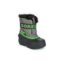 Śniegowce Dziecko Sorel  CHILDRENS SNOW COMMANDER. Szare buty zimowe chłopięce Sorel. Za 184,00 zł.