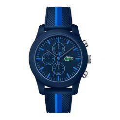 """Zegarek """"L1212-2010931"""" w kolorze granatowym. Niebieskie, analogowe zegarki męskie Lacoste, sztuczne. W wyprzedaży za 517,95 zł."""