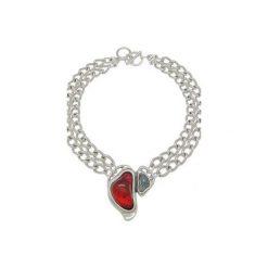 Podwójnie posrebrzany łańcuszek z kamieniem z kamienia Murano - 171800. Czerwone łańcuszki damskie Ciclón polska, posrebrzane. Za 369,00 zł.