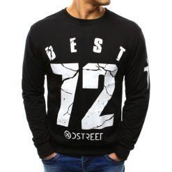 Bluzy męskie: Bluza męska z nadrukiem czarna (bx3301)