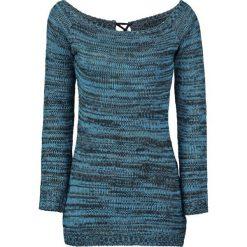 Innocent Hena Sweter damski turkusowy. Niebieskie swetry klasyczne damskie marki Innocent, xl, w ażurowe wzory, z materiału, z dekoltem na plecach. Za 164,90 zł.