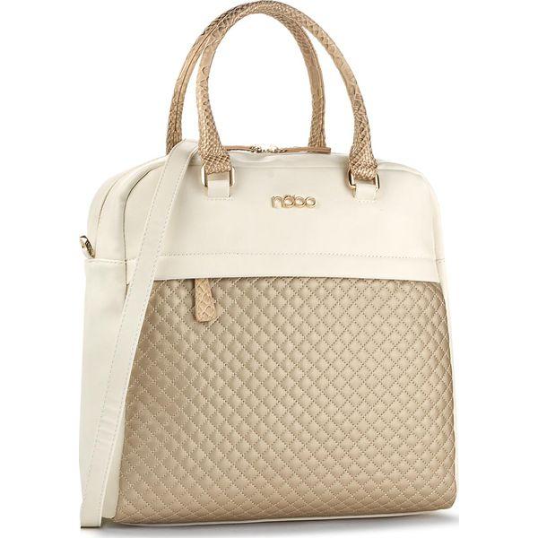 0d3059e838cf8 Torebka NOBO - NBAG-C0420-C000 Biały Ze Złotym - Żółte torebki klasyczne damskie  Nobo. W wyprzedaży za 119