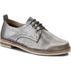 Oxfordy CAPRICE - 9-23200-28 Grey Metalic 220. Szare jazzówki damskie marki Caprice, ze skóry, na obcasie. W wyprzedaży za 199,00 zł.