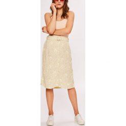 Vero Moda - Spódnica. Szare spódniczki marki Vero Moda, l, z materiału, midi, proste. Za 169,90 zł.