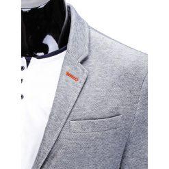 MARYNARKA MĘSKA CASUAL M80 - SZARA. Szare marynarki męskie slim fit Ombre Clothing, z dresówki. Za 99,00 zł.