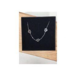 Naszyjniki damskie: Srebrny naszyjnik ażurowe trzy serca
