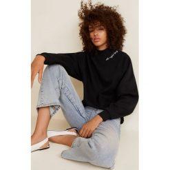 Mango - Bluza Collar. Szare bluzy damskie Mango, l, z aplikacjami, z bawełny, bez kaptura. Za 99,90 zł.